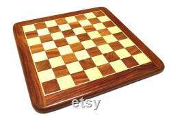16 X16 Pouces Indian Handmade Wooden Handicrafts Flat Chess Set.Wooden Chess Board, Chess, Flat Chess Board, Travelling Chess Set, Chess Set