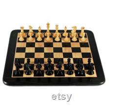 17 X17 Inche échiquier en bois, non magnétique meilleur jeu d échecs plat professionnel avec des pièces d échecs en bois ensemble (King Size 3''Inch),