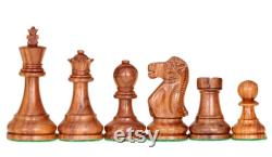 1972 Reykjavik Chess Pieces Broadbase Series Staunton Sheesham Boxwood 3,75