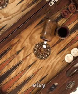 21.5 Inch Queen Backgammon Set Ashwood