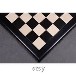 21 Ebony Maple Wood Luxury Chessboard 55 mm Square- Tuiles surélevées Design