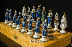 26 Magic Chess Siege of Polotsk Historical Battle Exclusive Work One of a Kind Stunning Work Best Chess Ever Collectible Chess