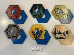 2-6 Player (inclut 3-4) Hand Dyed Wood Playing Board Laser Cut Engraved Baltic Birch withAmovable Jetons, Ports for Settlers of Catan