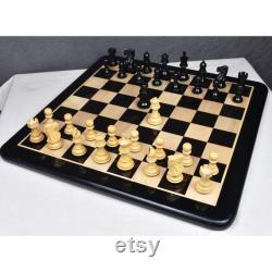 3.1 Pro Staunton Pièces d échecs de luxe seulement ensemble Triple Weighted Ebony Wood
