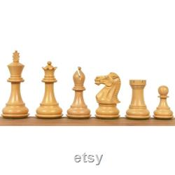 3.6 Professional Staunton Chess Pieces Only set-Weighted Golden Rosewood