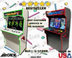 43 4K HD 4 Player Retro Arcade Cabinet Full Size Slim Arcade Machine Ships Entièrement assemblé (pi4)