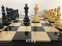 4.5 Luxe Staunton Ebony bois Boxwood Chess pièces Set- Alexander Luxury- Triple Weighted 2 Reines Supplémentaires- 4Q