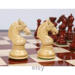 4.5 Sheffield Staunton Pièces d échecs de luxe seulement ensemble Bud Rosewood Triple Poids