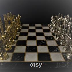 ANCIENT KINGDOM EGYPT Jeu d échecs, vintage, Rétro, Pharaon égyptien, Jeu d échecs en métal fait main de luxe, jeu d échecs pour les collectionneurs, un cadeau parfait
