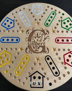 Aggravation 6 joueur Monogram Design Game Board 2 Côté avec 4 joueurs Aggravation sur le côté 2.