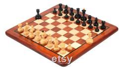 Allemand Knubbel Analyse Pièces de jeu d échecs Reproduit vintage 1930 design Ebonized Stained Boxwood 3 King. Référence R0379B