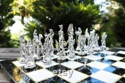 Antique Rome Egypte Chess Set Option de figure différente Pierres d échecs historiques d armée Jeu de société de luxe Expédition express (2-5 jours)