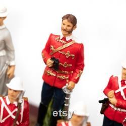 BRITISH VS ZULU Ensemble d échecs peint à la main avec chessboard Leatherette