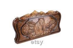 Backgammon Board avec ours et cerfs