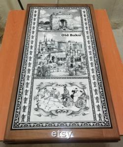 Backgammon traditionnel turc Azerbaïdjan Jeu de société en bois backgammon Handmade Oriental backgammon jeu de société Nard national