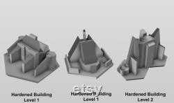 BattleTech CityTech 18 x Mapscale Buildings (Ensemble complet)