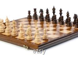 CHESS 3 en 1 LARGE Ensemble d échecs personnalisé 9,8 x 19,6