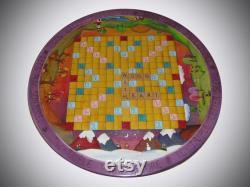 CUSTOM SCRABBLE Lazy Susan personnalisé Lazy Susan 20 de diamètre bois paresseux susan jeux de société vintage Scrabble jeu Scrabble -