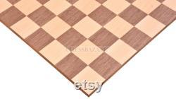 Chess Board Minimaliste Walnut Maple Wooden Matte Finish Borderless Chess Board 19 60 mm SKU B1025