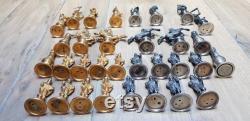Chess Silver solide, marqué 800, 32 pièces,16 de qui Vermeil, superbe jeu d échecs, conditions parfaites, made in Italy, artisan, échecs d or, layaway