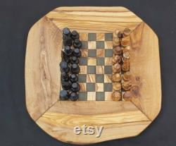 Chess board 11 chess set olive Unique Olive Wood Rustic Chess Board Dad Gift Christmas present set board with 32 hand-crafted pieces
