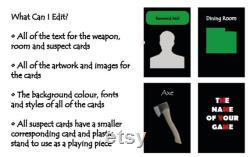 Créez votre propre jeu Cluedo personnalisé