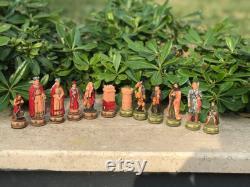Créez votre propre jeu d échecs, figurines d échecs historiques faites à la main et échiquier fait main, jeu d échecs fait main, cadeau d anniversaire