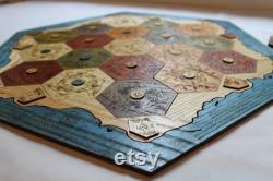 Custom Game Board pour les colons de Catan (fr) 2-4 ou 2-6 Joueur Coupe laser, cadeau d anniversaire, cadeau de joueur