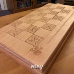 Custom Laser gravé large planches d échecs en bois