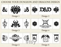 Donjons et dragons écran, Dungeon bois d écran principal, bois d écran dnd, don principal de donjon pour l homme, donjons et cadeaux de dragons, écran de dragon