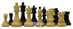 Dubrovink Series 1950 vintage Reproduction 3.75 Boîte bois et ebony wood chess set