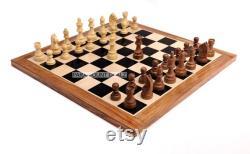 EN BOIS CHESS BOARD-Cadeau de Noël -Cadeau d anniversaire- Cadeau de papa, ensemble en bois de pièces d échecs, cadeau de petite amie de petit ami