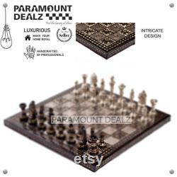 Échiquier, Échecs en métal, échecs vintage, échecs en laiton, cuivres d échecs, échecs vintage, échecs fabriqués à la main, jeu d échecs, échecs antiques,