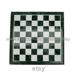 Échiquier en marbre avec des pièces d'échecs en marbre, cadeau de Noël, cadeau de fiancé