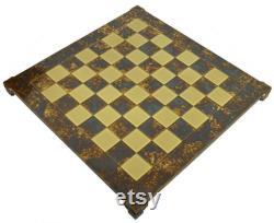 En laiton et brown chess board carrés de 1,75