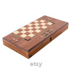 Ensemble classique de backgammon Noyer