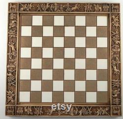 Ensemble d échecs d Atlas, Atlas, Chesset original, chesset grec de mythologie, gambit de la reine, mouvement de Checkmate