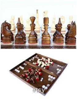 Ensemble d échecs en bois, échiquier, pièces d échecs, échecs en bois, dames en bois, jeu d échecs, échecs sculptés, pièces d échecs en bois, d échecs en ivoire