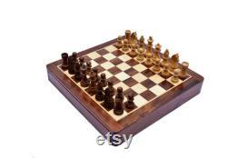 Ensemble d échecs en bois magnétique de luxe Canadian Maple et Sheesham Wood complètent l ensemble d échecs échiquier avec des pièces d échecs -L Empire des échecs