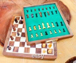 Ensemble d échecs personnalisé GRATUIT Gravure Square Magnetic Chess Board With Chess Pieces Chess Player Gift