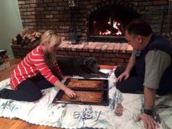 Ensemble de backgammon en bois, planche de backgammon faite à la main, jeu de backgammon, cadeaux pour lui, cadeau pour des amis, cadeau pour le mariage, Scorpion