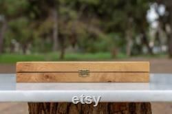 Ensemble de backgammon olivewood Tavli grec fait main en bois Petite taille Cadeaux