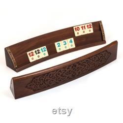 Ensemble de jeu Carved Rummikub Jeu en bois incurvé Rummy Cube