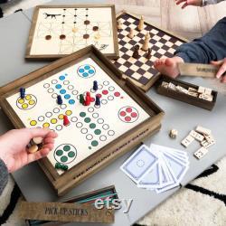 Ensemble de jeux d anniversaire en bois personnalisé
