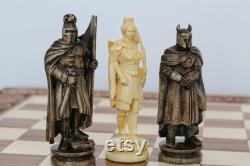 Ensemble de pièces d'échecs luxe avec boîte sculptées à la main Pièces d'échecs pondérées avec étui design faites en bois de haute qualité