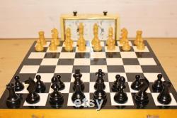 GRAND tournoi soviétique d échecs vintage jeu d échecs en bois full set