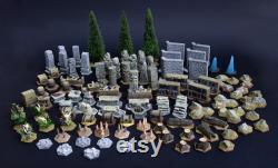 Gloomhaven Terrain, le meilleur ensemble de la planète 102 modèles en résine entièrement peints à la main