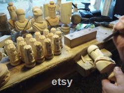 Grand jeu d échecs 55 x 55 sculpté à la main bois