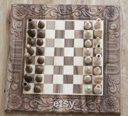 Grand jeu d'échecs, jeu de plateau de backgammon, jeu de backgammon d'échecs en bois, jeu d'échecs en bois, jeu d'échecs en bois