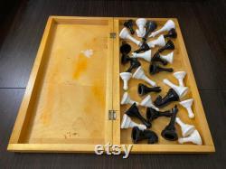 Grand vieux vieux jeu d échecs soviétiques en bois classique des années 70, chess board 45x45cm, vieux échecs en bois, vieux échecs, jeu d plateau, jeu intellectuel, cadeau soviétique